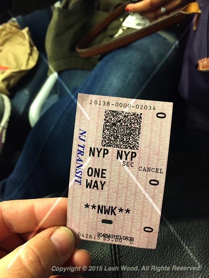 NJ Transit ticket