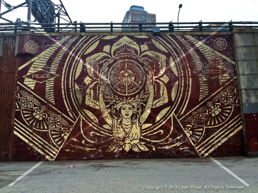 Mural in Brooklyn- DUMBO