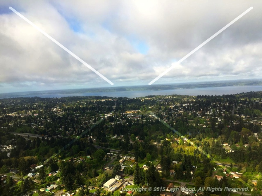 View from Airplane of Seattle